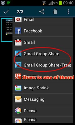 Share something to Gmail Group Share